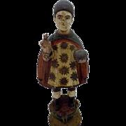 Antique Santo Nino Santos Statue Filipino Carved Wooden