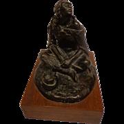 Authentic Ace Powell Bronze Sculpture Indian Woman 28/30 Fine Western Americana Art