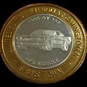 Vintage Las Vegas Casino Token 1965 GT Mustang 350 Fine Silver .999
