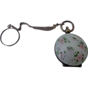 Rare Guilloche Women's Sterling Watch Fob Change Purse Made by Blackinton Victorian