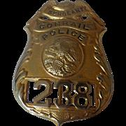 Vintage Conrail Police Railroad RR Illinois Badge