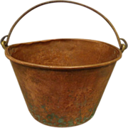 Antique 1860s Copper Pot Kitchenalia Country Decor Reinactors