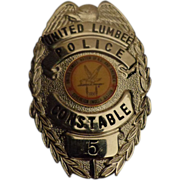 Vintage Indian Lumbee Constable Badge North Carolina NC c 1970