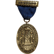 Vintage Ohio Named Masonic Lodge 50 Year Medal Award Faithful Service
