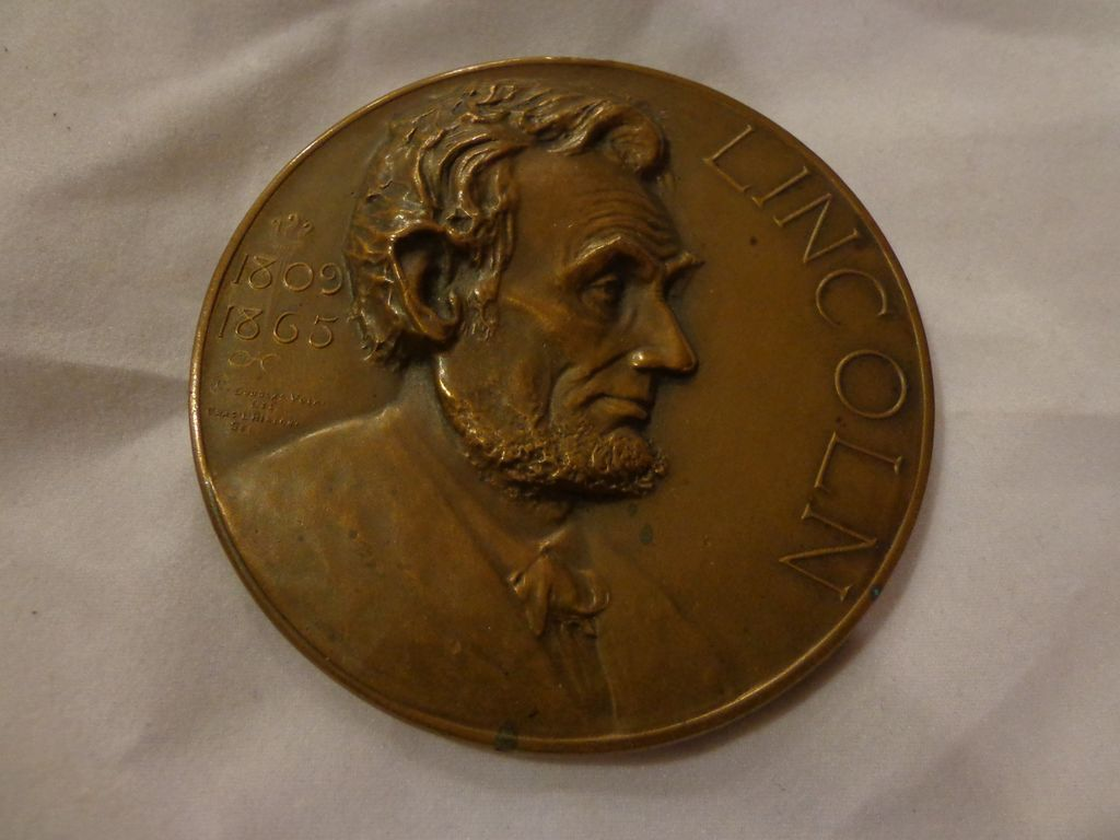 abraham lincoln bronze essay table medal award s d from roll over large image to magnify click large image to zoom