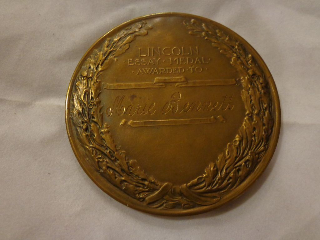 abraham lincoln bronze essay table medal award 1920s d from roll over large image to magnify click large image to zoom