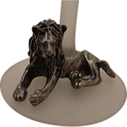 Rare Vintage French Lion Glass by Luminarc Made in France