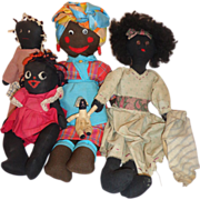 Outstanding African American Doll Collection Negro Folk Americana Mammy Golliwog