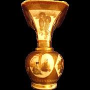Rare Antique Japanese Satsuma Bud Vase Meiji Period with Samurai Motif