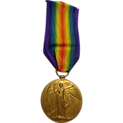 WWI British Military Named The Great War for Civilisation 1914-1919 Allied Victory Medal
