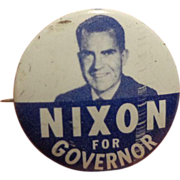 Vintage Political Pin Nixon for Governor Scarce Republican Party GOP