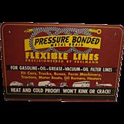 Vintage Edelmann Metal Sign Automotive Airplane Farming Engine Lines Advertising