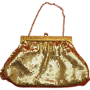 Gorgeous Condition Whiting & Davis Gold Mesh Evening Bag Purse