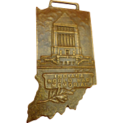 Bronze Bastian Brothers State of Indiana World War I Memorial Medal WWI Military Fob