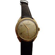 Vintage Ulysse Nardin Gents Chronometer CO Watch Gold Filled Mens Automatic Wristwatch