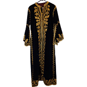 Vintage Handmade Persian Robe Gold Thread Men's Royal Garment Costume