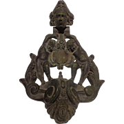 Antique Victorian Bronze Doorknocker French Putti