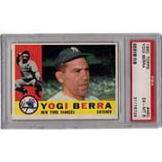 Vintage Baseball Card 1960 Yogi Berra PSA Grade 6 Hall of Fame