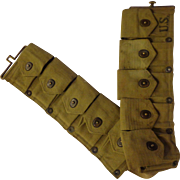WWII M1 Garand Cartridge Belt Military Webgear Ammo US 1941