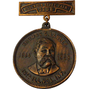 Antique GAR Civil War Illinois 19th Infantry Volunteer Medal State Fair 1908