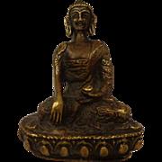 Miniature Bronze Thai Shayamuni Medicine Buddha Buddhist Traveler's Idol