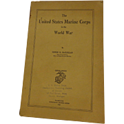 Rare USMC WWI Book By Edwin McClellan United States Marine Corps Military