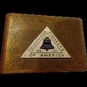 Vintage Bell Telephone Enamel Belt Buckle Pioneers of America AT&T
