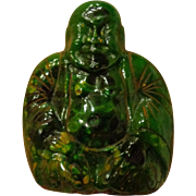 Very Rare Bakelite Buddha Shoe Clip Green Marbled Spinach Color Chinese