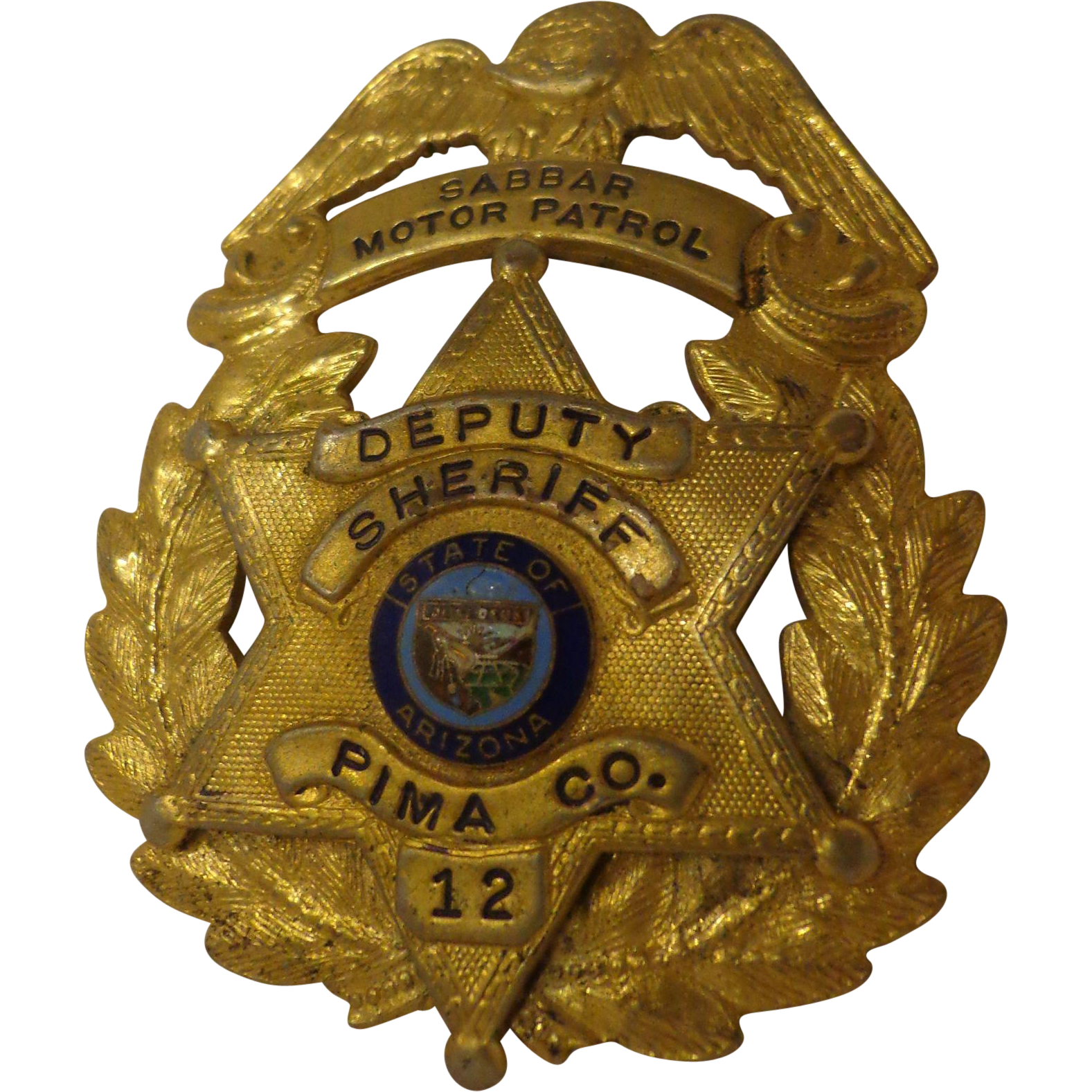 rare vintage shriner u0027s police badge custom made masonic pima