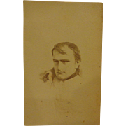 Antique Carte de Viste Photograph of French General Napoleon Bonaparte c. 1860s CDV