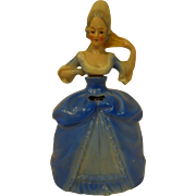Vintage German porcelain Perfume Bottle Flask c. 1930 Marie Antoinette