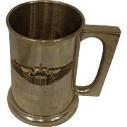 Rare Vietnam Hero Command Pilot Named Pewter Military Mug Stein