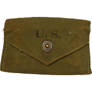 1945 WWII US First Aid Pouch Webgear Military Accoutrement