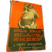 Baa Baa Black Sheep USMC Pilot WWII Book Pappy Boyington