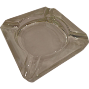 Heavy Art Deco Vintage Crystal Cigar Ashtray Estate Find Ash Tray Gift