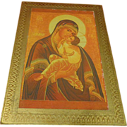Vintage Marco Sevelli Italian Icon Our Lady of Perpetual Help Religious Gift Plaque Italy