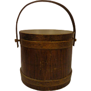 Antique Shaker Style Sugar Bucket Firkin Primitive Wooden Ware