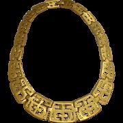 Beautiful Vintage Trifari Choker Necklace Chinese / Asian Design
