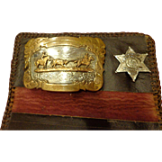 Utah Rodeo Champion Named Belt Buckle with Deputy Sheriff Police Badge Garfield County Cowboy
