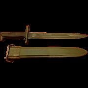 Nice WWII Garand Rifle Bayonet AFH US Military Ordinance