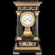 Early 19th century French Empire Portico Mantel Clock