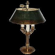 Antique 19th century French Empire Bouillotte Tole Table Lamp