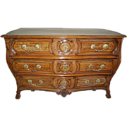 Rare 18th century French Louis XIV Walnut Commode