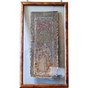 15th century Renaissance / Late Medieval Flemish Framed Embroidery