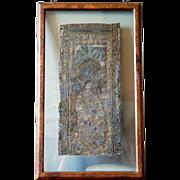 15th century Renaissance / Late Medieval Flemish Framed Embroidery, Saint John