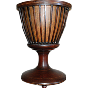 Antique Dutch Victorian Mahogany Wood Urn Planter / Cachepot (Jardiniere or possibly Wine Cooler)