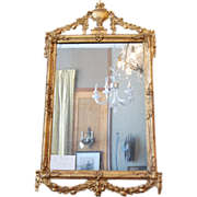 Early 19th century Louis XVI Neoclassical Gilt wood Mirror