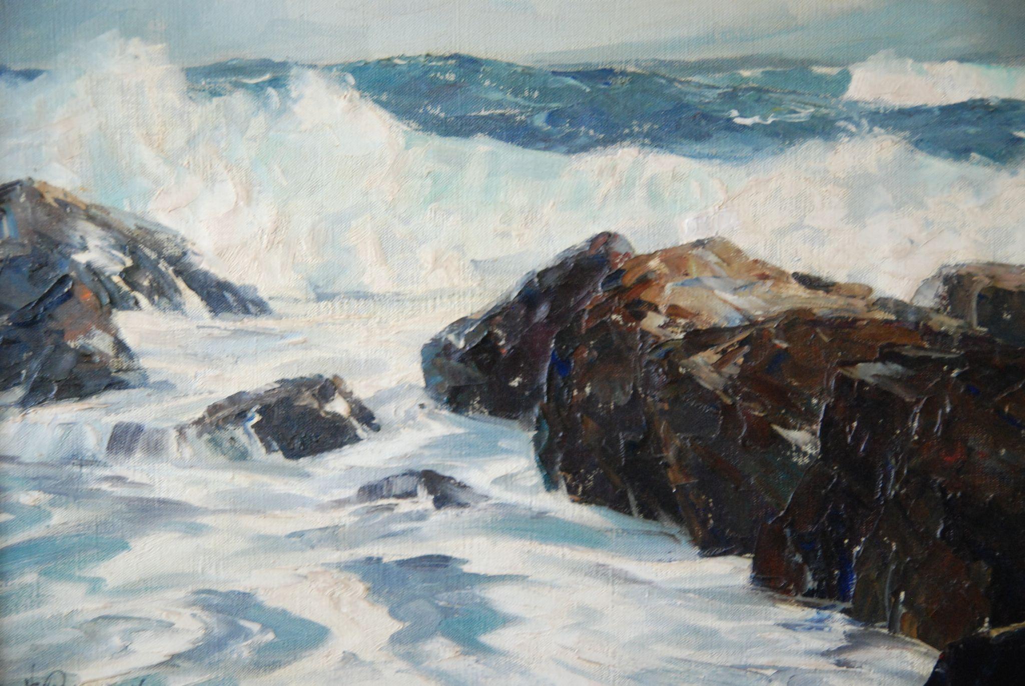 Bennett bradbury california impressionist seascape oil painting from