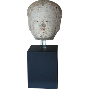 Han Dynasty Pottery Head of a Female Attendant Chinese Pottery 2nd century BC
