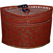 18th century American Hepplewhite Tole Toleware Tea Caddy Box Container
